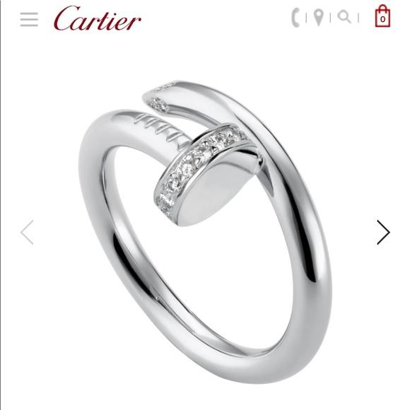 1a66df1436d4b Cartier Juste Un Clou diamond ring